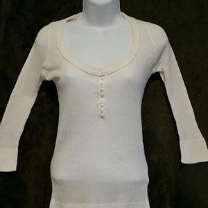 Anchor Blue Women's White Long Sleeve Blouse
